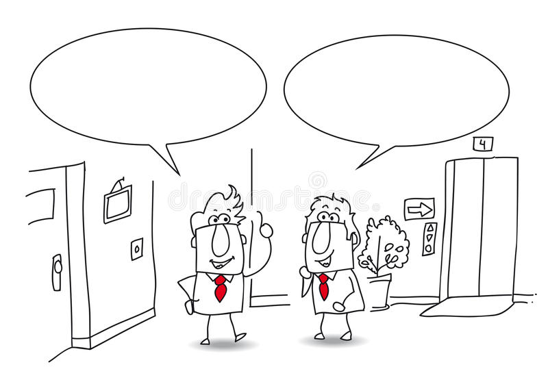 Discussão no escritório ilustração royalty free