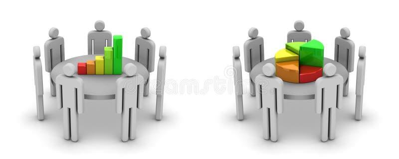 Discussão ilustração royalty free