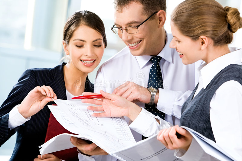 Download Discussing business plan stock image. Image of female - 4206649
