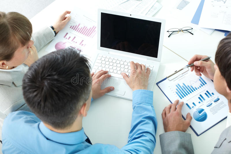 Download Discussing charts stock photo. Image of meeting, display - 22620712