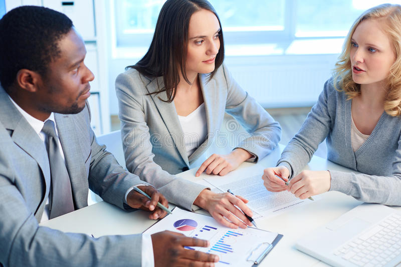 Download Discussing ideas stock photo. Image of business, businessman - 33656484