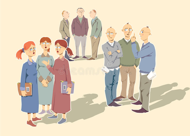 Discussing people stock illustration