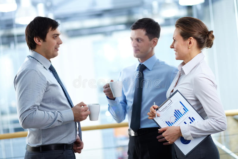 Discussing plans stock photos