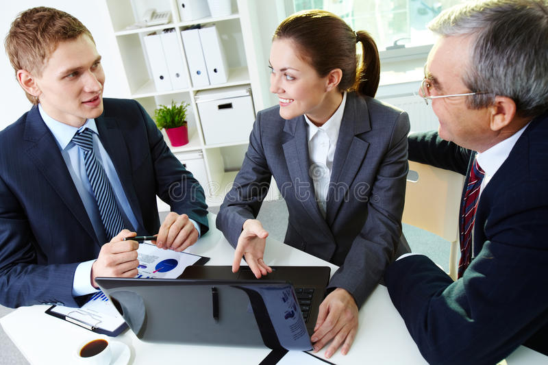 Download Discussing project stock photo. Image of businesswoman - 24738638