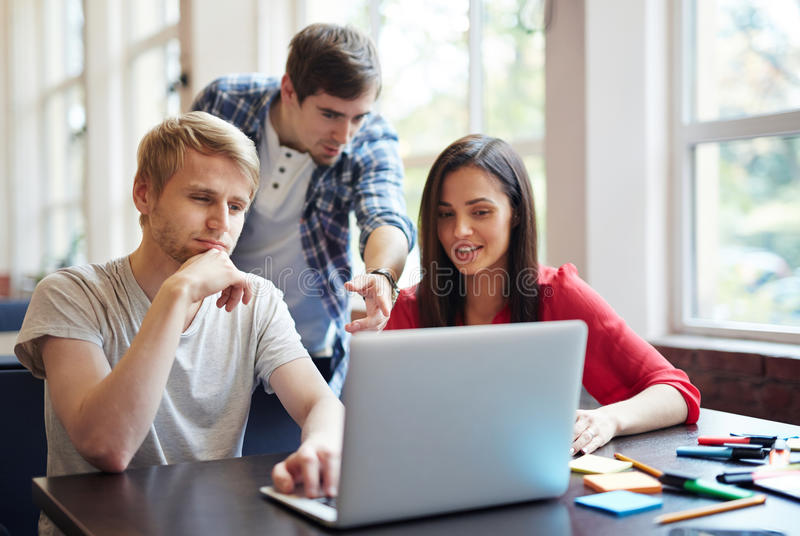 Discussing video course stock images