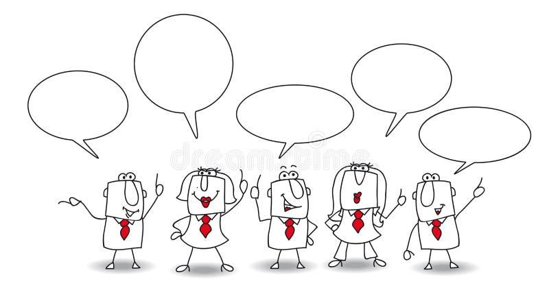 discussion illustration de vecteur