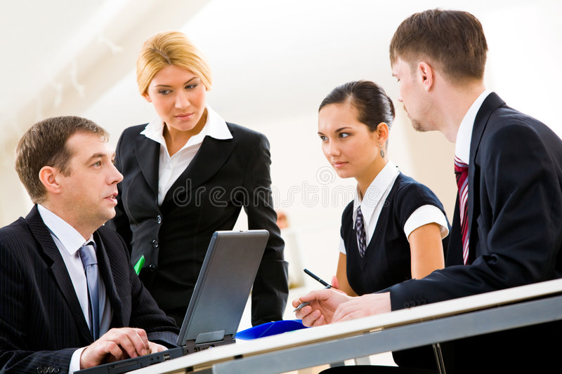 Download Discussion stock photo. Image of person, colleague, interaction - 8661346