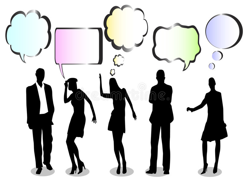 discussion ayant illustration stock