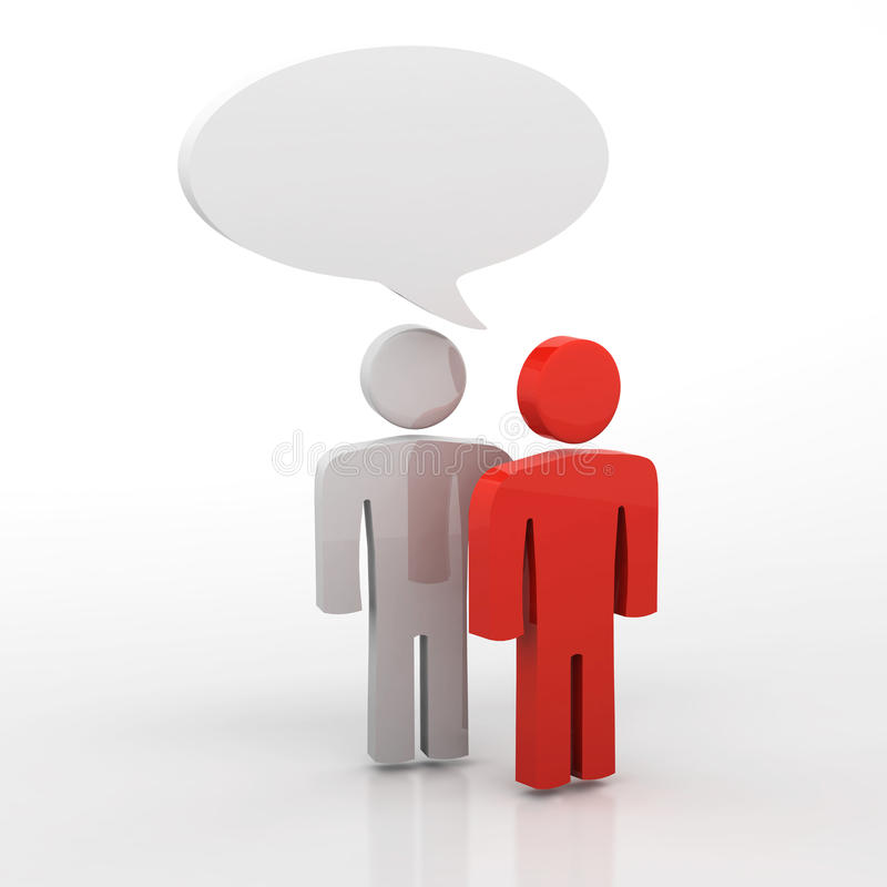 Discussion, Blank Speech Bubbles Stock Illustration