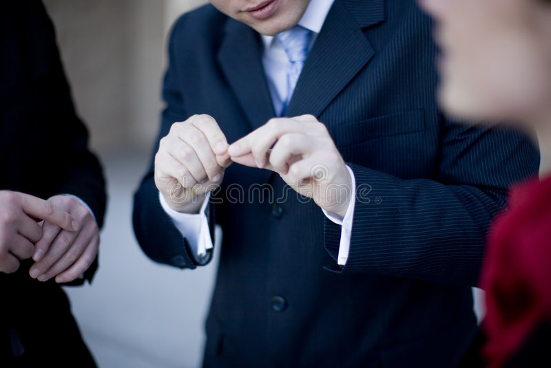 Discussion d'hommes d'affaires photos stock