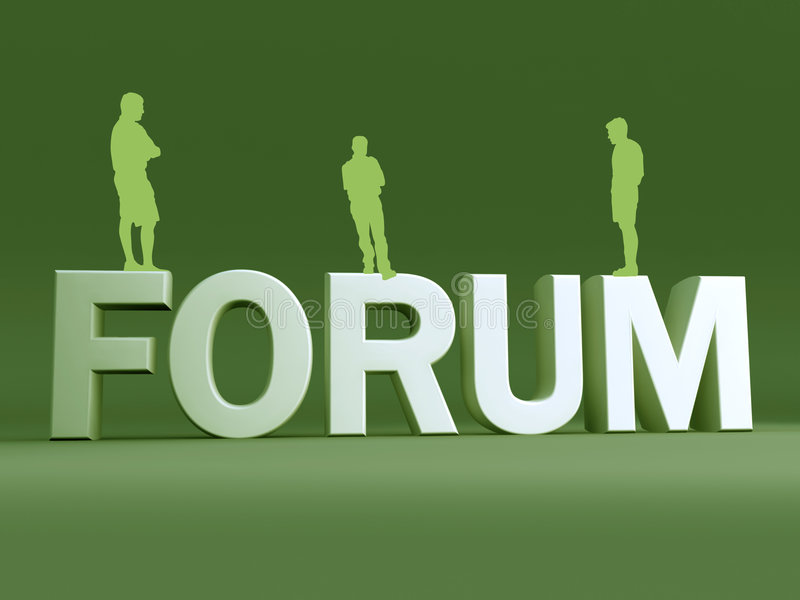 Discussion de groupe de forum illustration libre de droits