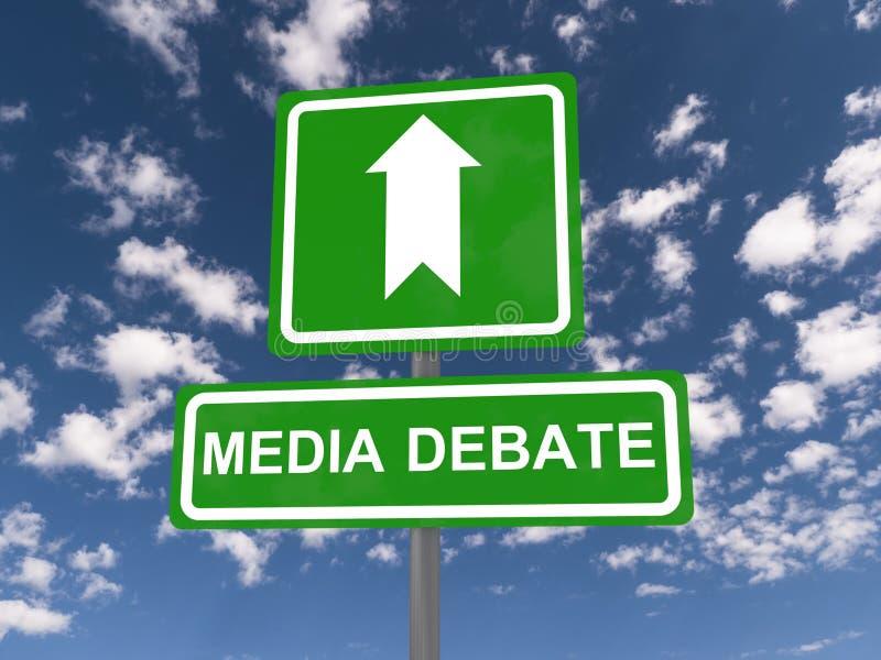 Discussion de media illustration libre de droits