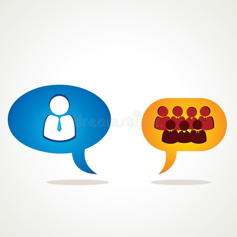 Discussion De Meneur D équipe Avec L équipe Image stock