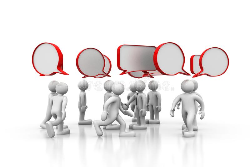 discussion des gens 3d illustration stock