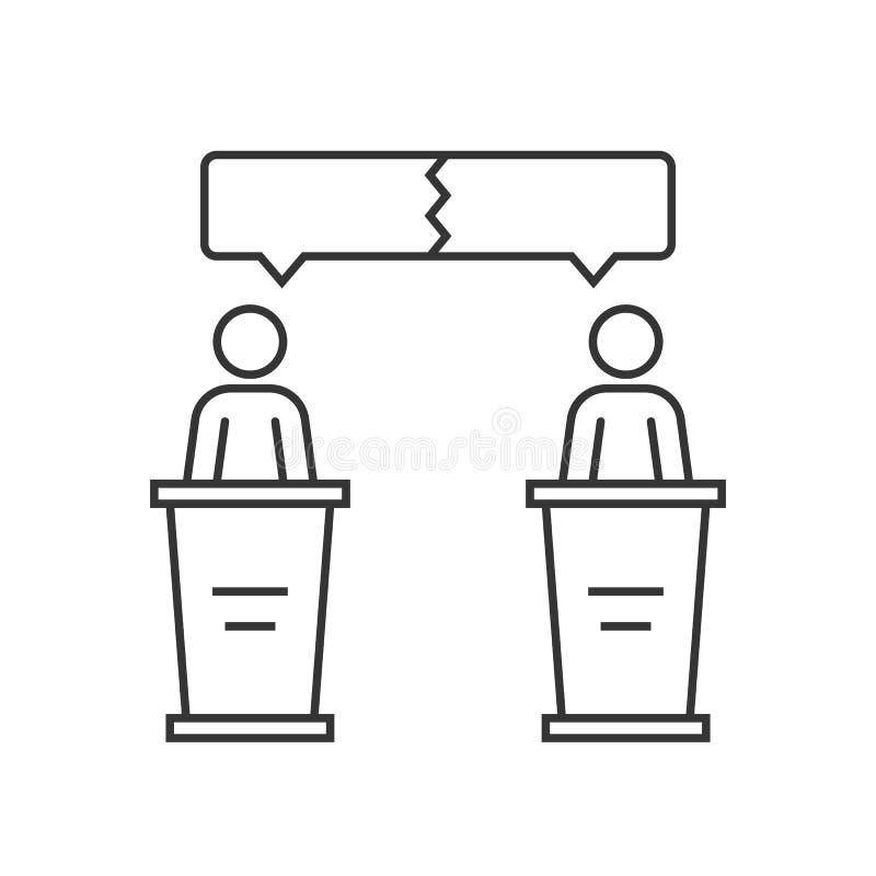 Discussion entre deux haut-parleurs illustration de vecteur
