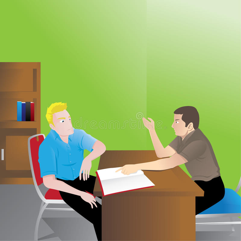 Discussion royalty free illustration