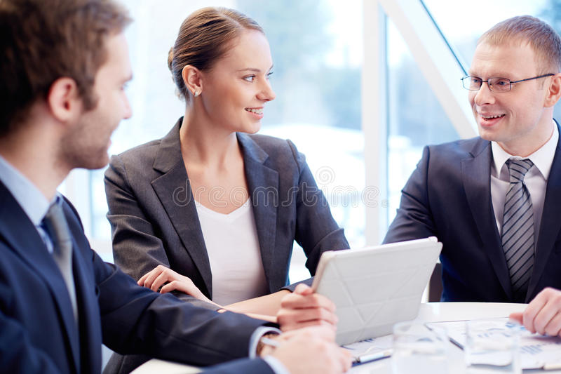 Download Discussion stock image. Image of confident, associate - 33382081