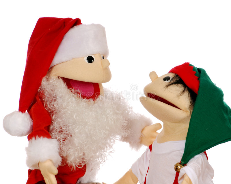 Discussion at the North Pole stock photos