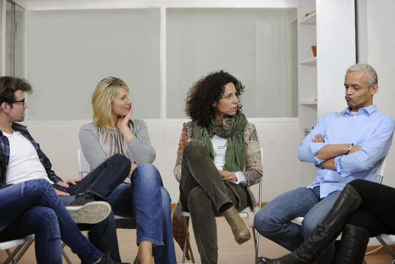 Discussion ou thérapie de groupe image libre de droits