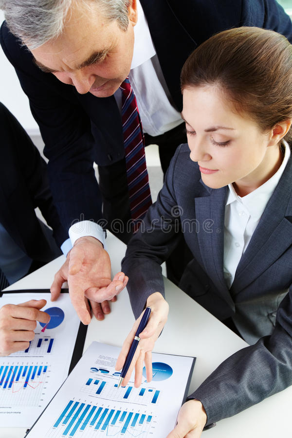 Download Discussion of papers stock photo. Image of explaining - 25443162