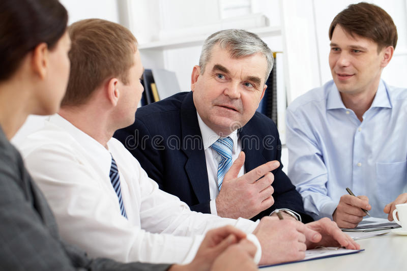 Discussion of strategy royalty free stock photo