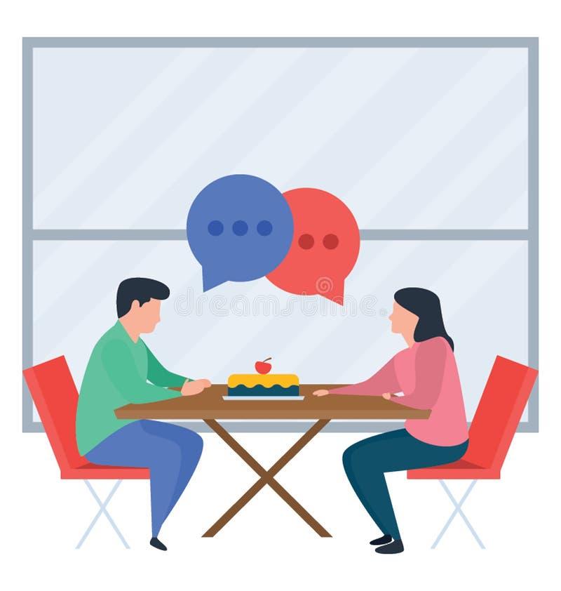 Discussione delle coppie royalty illustrazione gratis