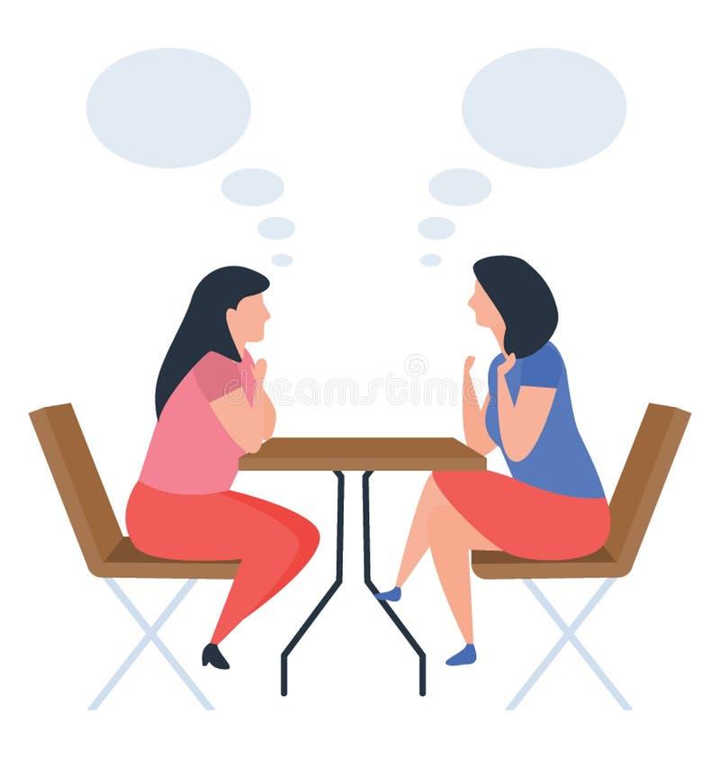 Discussione delle ragazze illustrazione di stock