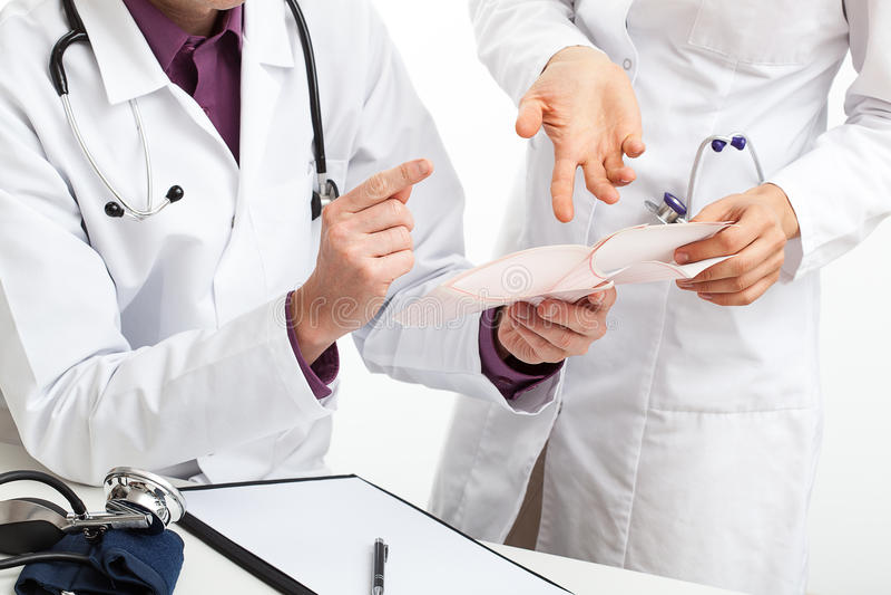 Discussione medica immagine stock libera da diritti