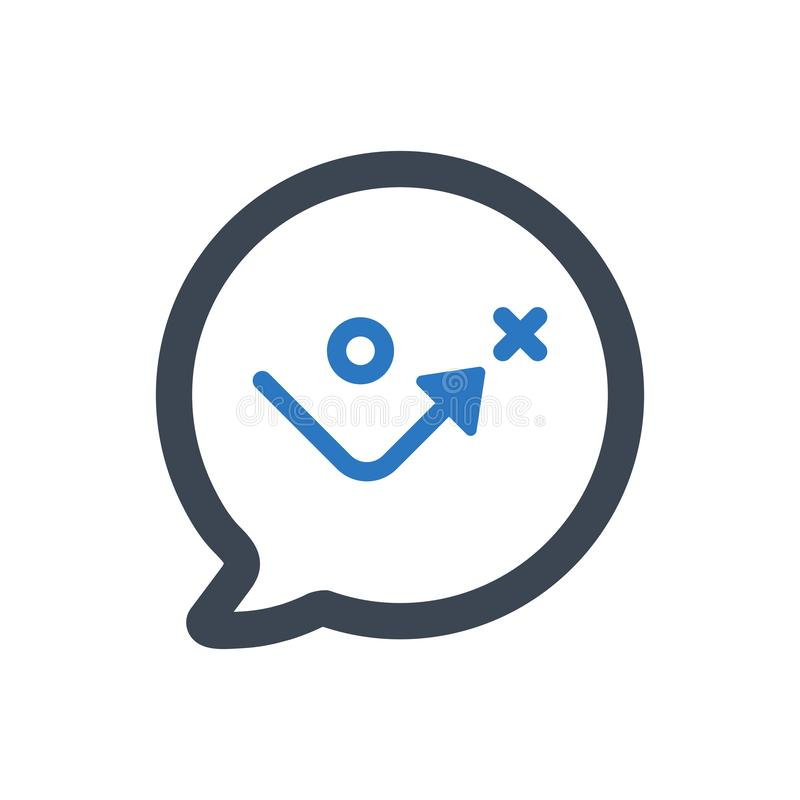 Discuta l'icona strategica di pianificazione illustrazione vettoriale