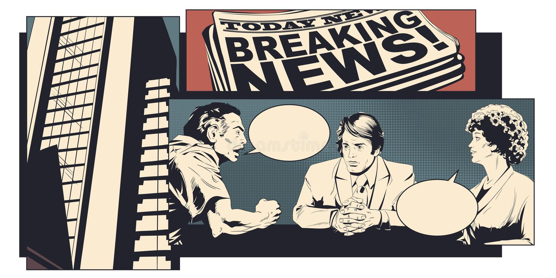 discuta la donna dell'uomo Illustrazione di riserva illustrazione di stock