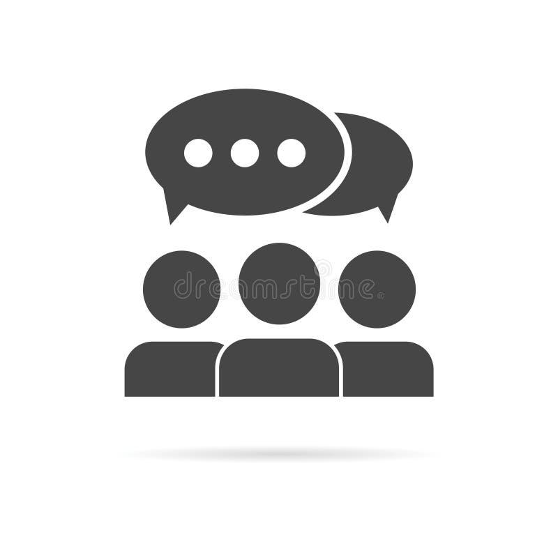 Discuta o ícone da conversa ilustração stock