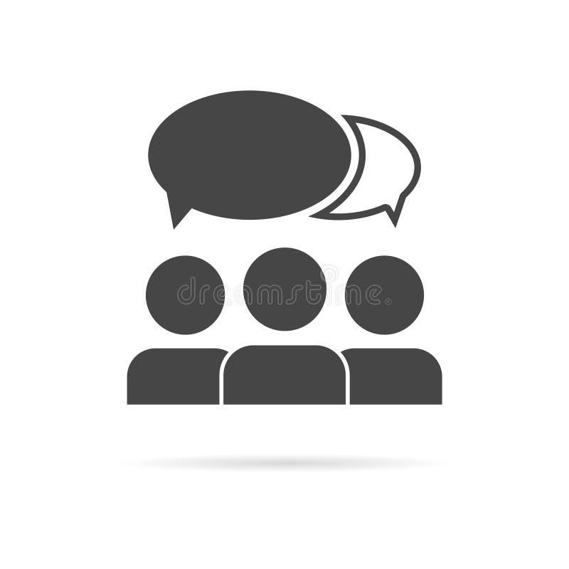 Discuta o ícone da conversa ilustração do vetor