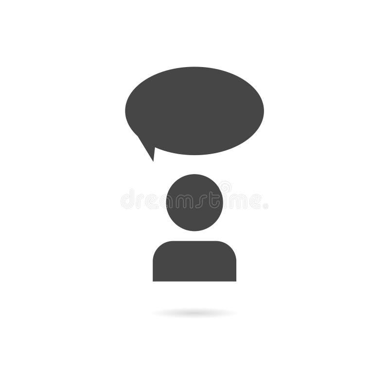 Discuta o ícone da conversa ilustração royalty free
