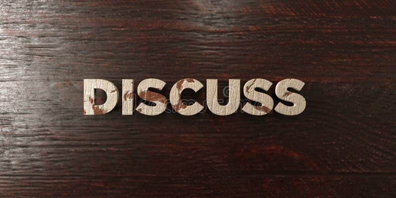 Discuta - titolo di legno grungy sull'acero - l'immagine di riserva libera della sovranità resa 3D royalty illustrazione gratis