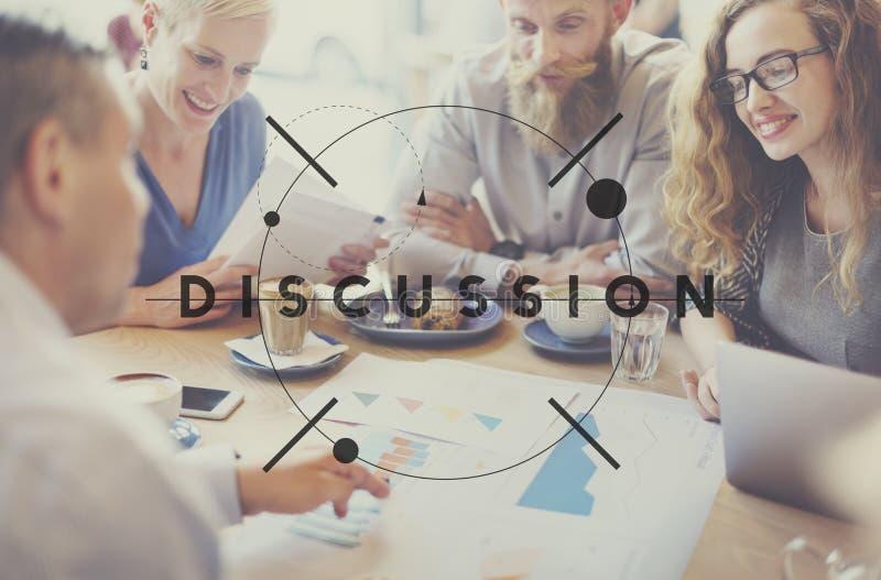 Discutez le concept parlant de discussion de négociation de discussion image stock