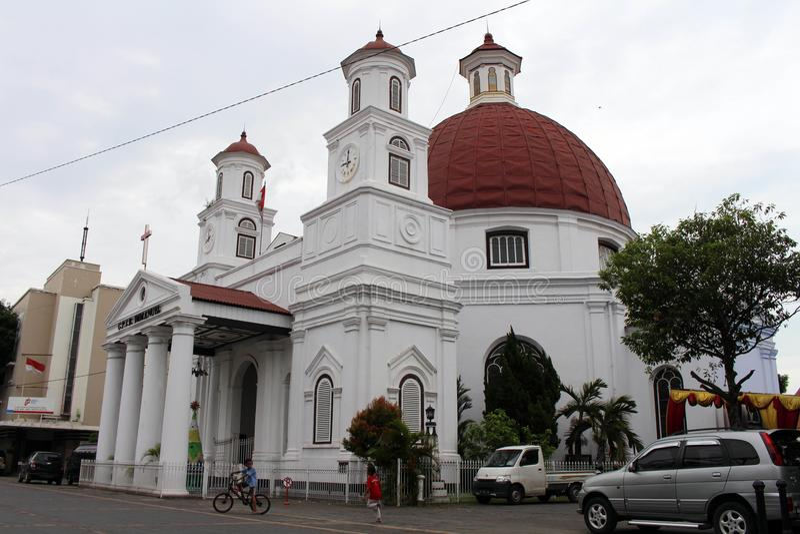 Discutibilmente l'icona di Kota Lama Old Town di Samarang, Indonesia fotografia stock libera da diritti