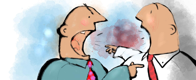 Discutindo homens ilustração do vetor