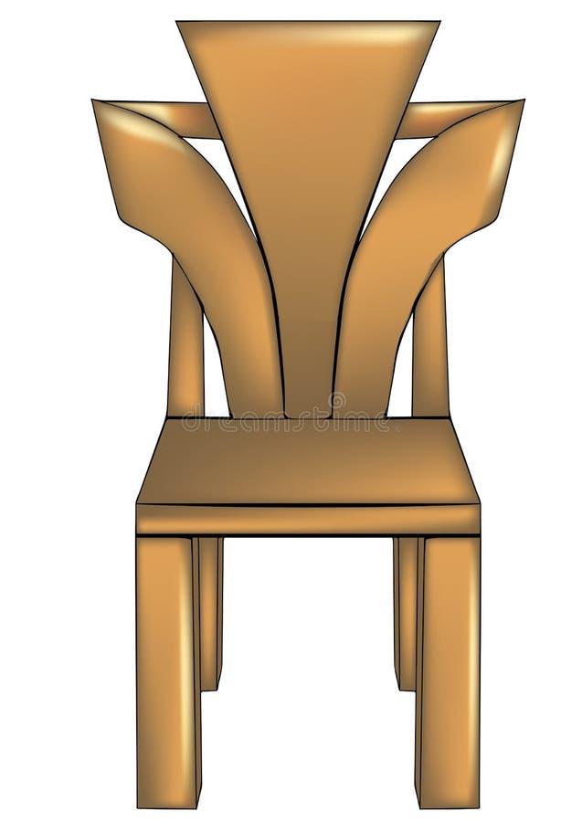 Diseñador chair1 stock de ilustración