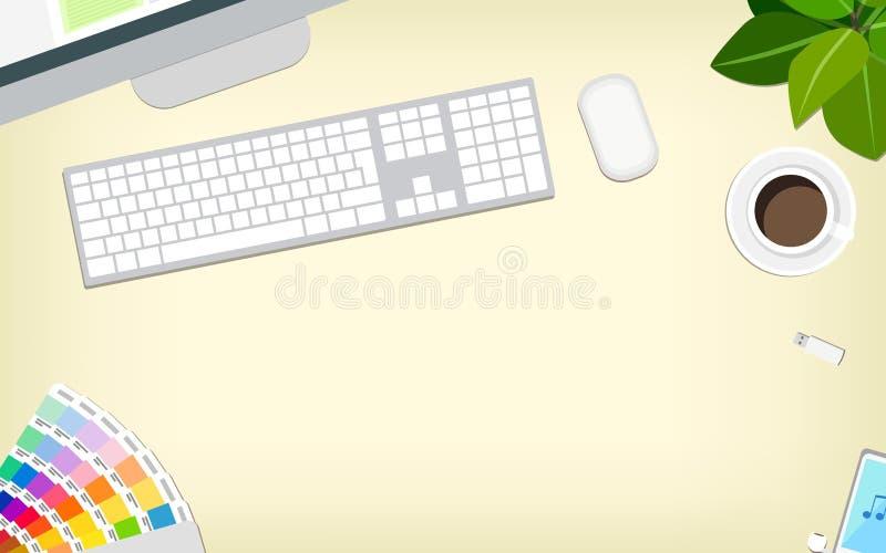 Diseñador de escritorio, vector libre illustration