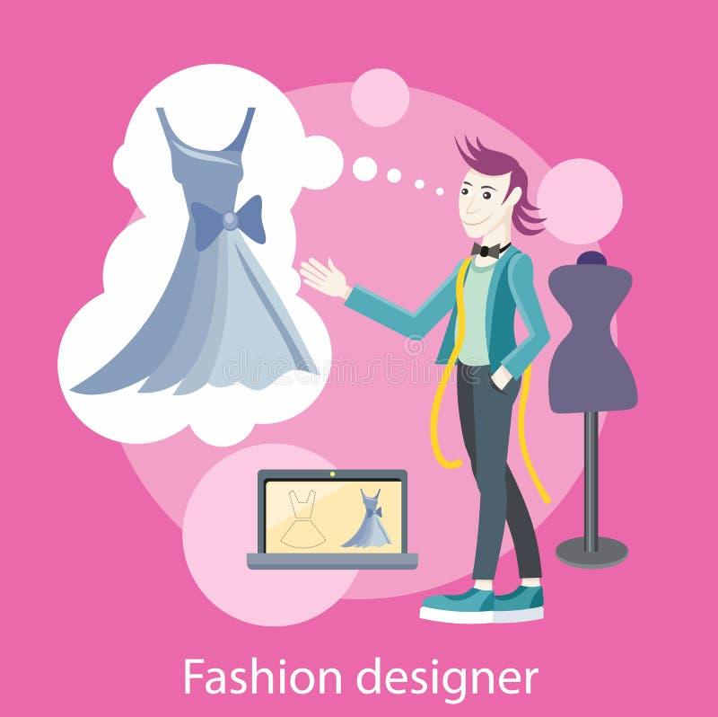 Diseñador de moda libre illustration