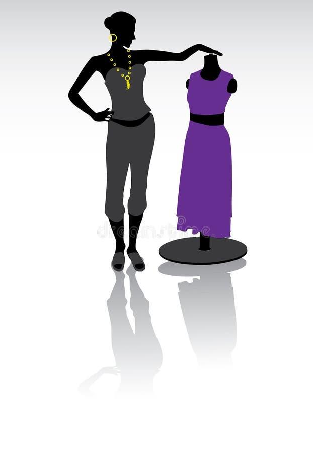 Diseñador de moda ilustración del vector