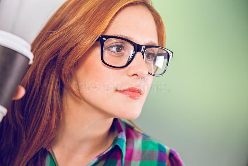 Diseñador de sexo femenino joven At Work fotografía de archivo libre de regalías