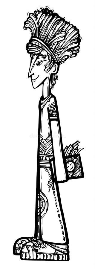 Diseñador de sexo masculino ilustración del vector