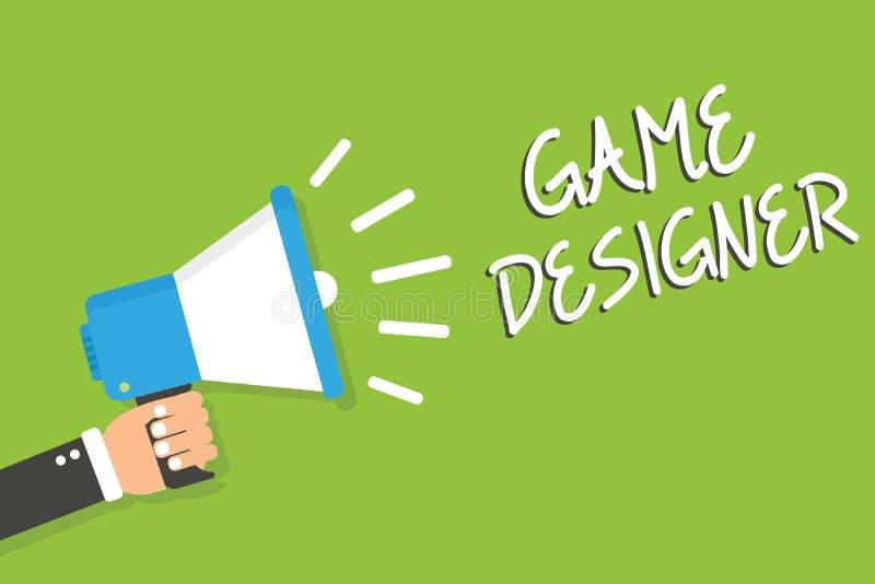 Diseñador del juego del texto de la escritura Los gráficos Scripting de las consolas de programadores del pixel del paladín del s ilustración del vector