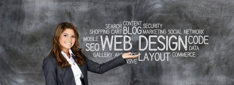 Diseñador del sitio web stock de ilustración