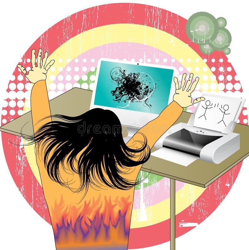 Diseñador feliz libre illustration