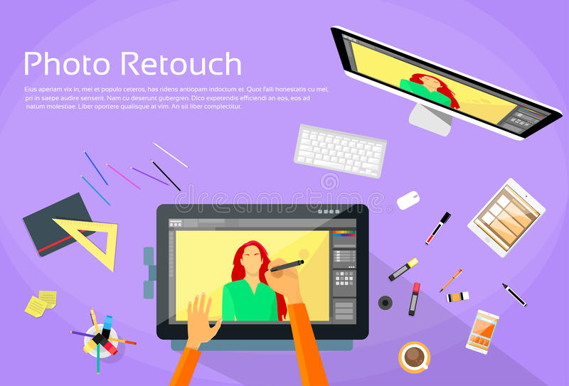 Diseñador gráfico Professional Tablet Drawing libre illustration
