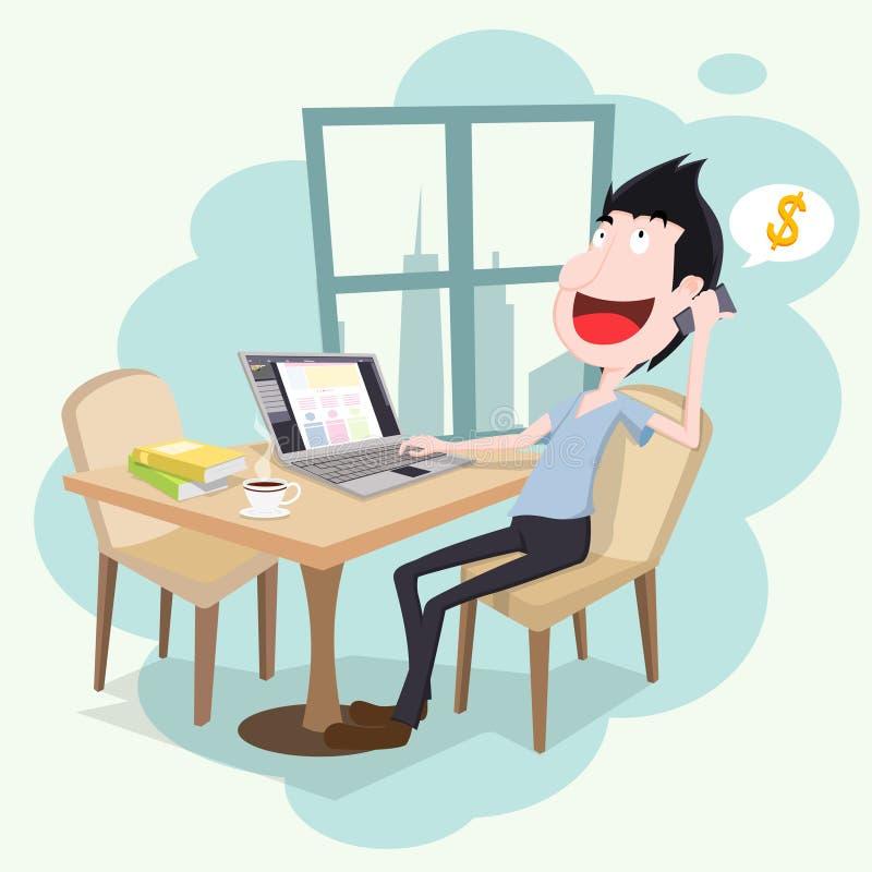 Diseñador independiente stock de ilustración