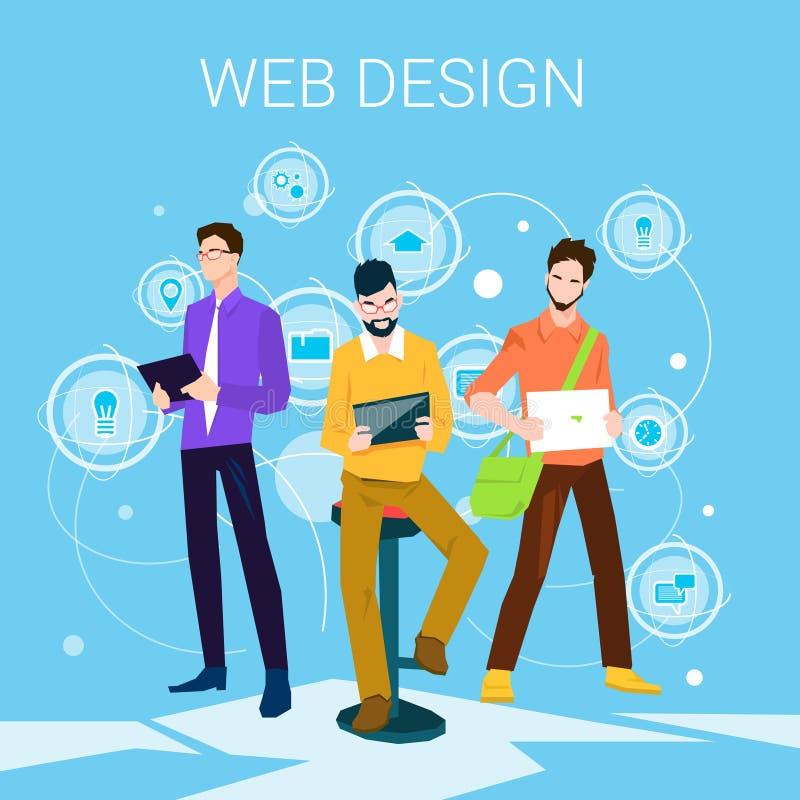 Diseñador web Business People Team Working ilustración del vector