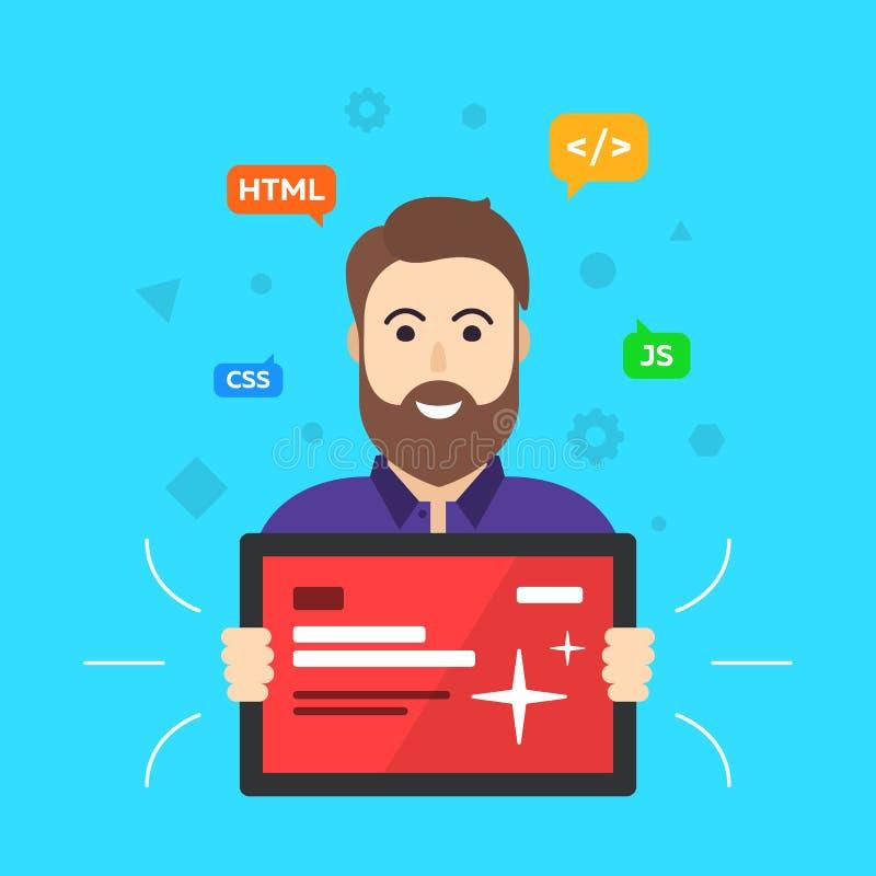Diseñador web programador stock de ilustración